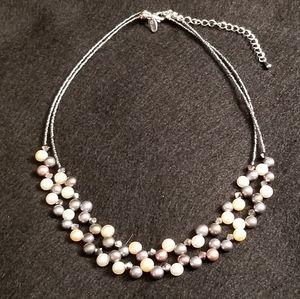 Vintage Lia Sophia Pearl Necklace